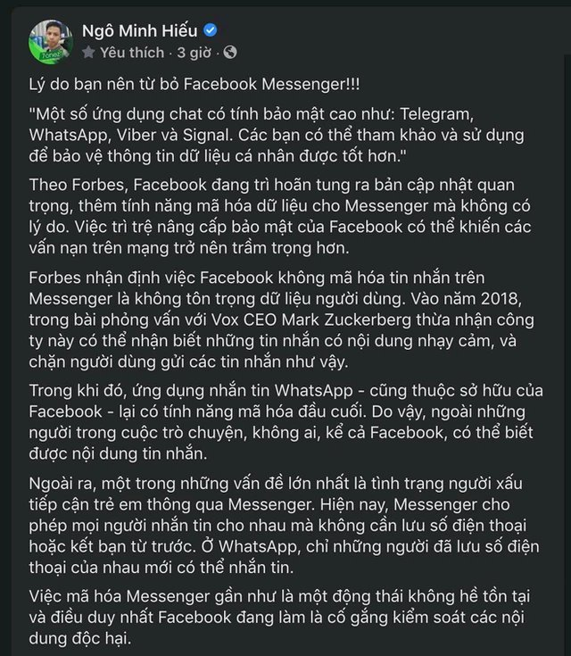 Hiếu PC cấp thiết khuyên người dùng từ bỏ nền tảng nhắn tin hàng đầu hiện nay - Messenger: Chuyện gì đã xảy ra?